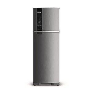 Refrigerador Brastemp Frost Free Duplex 400 Litros painel digital Inox BRM54