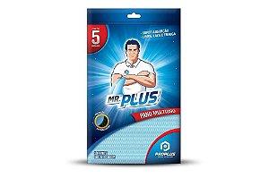 Pano Multiuso MR.PLUS 30x50x5 - Pacote 05 unidades