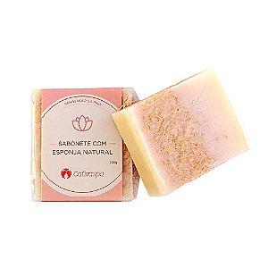 Sabonete com Esponja Natural 100g - Cativa