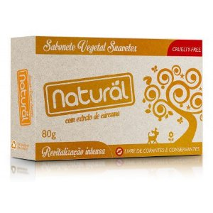 Sabonete Natural Com Extrato de Cúrcuma 80g - Suavetex