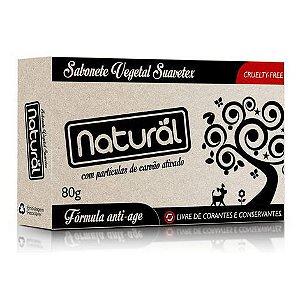 Sabonete Natural Com Carvão Ativado 80g - Suavetex