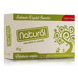 Sabonete Vegetal Natural com Extrato de Camomila 80g - Suavetex