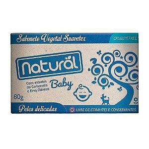 Sabonete Natural Baby Com Extratos de Camomila e Erva Cidreira 80g - Suavetex