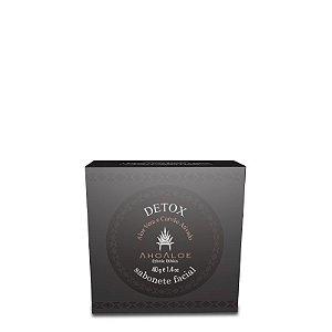 Sabonete Facial Detox Aloe Vera e Carvão Ativado 40g - Ahoaloe