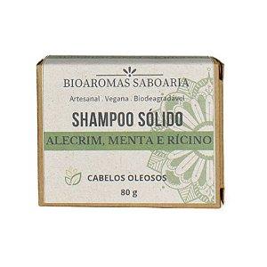 Shampoo Sólido Alecrim, Menta e Rícino 80g - BioAromas