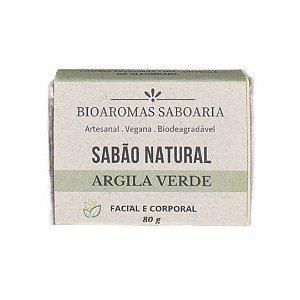Sabão Facial Para Pele Oleosa Argila Verde 80g - BioAromas