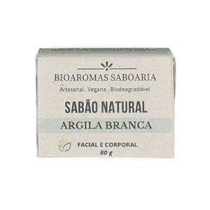 Sabão Facial e Corporal Argila Branca 80g - BioAromas