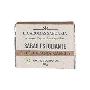 Sabão Facial e Corporal Café Esfoliante 80g - BioAromas