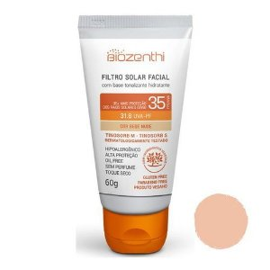 Filtro Solar Facial FPS 35 Bege Nude 60g - Biozenthi