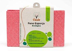 Pano Esponja Biodegradável de Celulose e Algodão (Rosa) 1uni - Caule