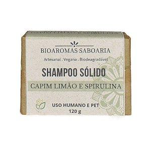 Shampoo Sólido Capim Limão e Spirulina 120g - Bioaromas