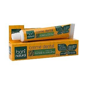 Creme Dental Natural Hortelã e Cúrcuma 90g - Boni Natural
