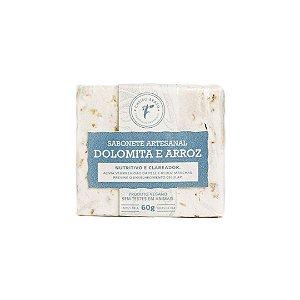Sabonete Artesanal Dolomita e Arroz 60g - Cheiro Brasil