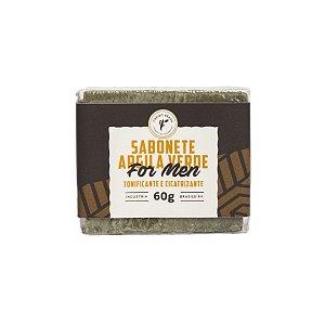 Sabonete Argila Verde For Men 60g - Cheiro Brasil