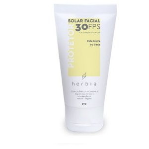 Protetor Solar Facial Natural Peles Mistas e Secas 50gr - Herbia
