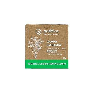 Shampoo em Barra Tomilho, Alecrim, Menta e Louro 90g - Positiv.a