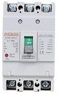 Disjuntor Caixa Moldada 3X100A 100Ka | Metaltex
