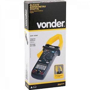 ALICATE AMPERÍMETRO DIGITAL AAV4200 | VONDER
