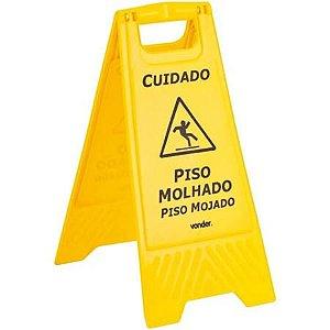 """CAVALETA P/SINALIZAÇÃO """"PISO MOLHADO""""   VONDER"""
