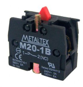 CONTATOR 1NF P/BOTAO M20 | METALTEX