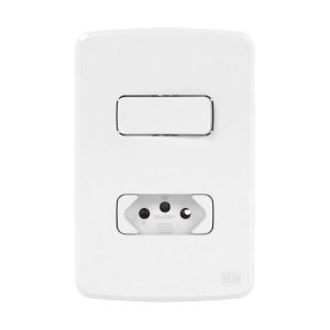 Conjunto Interruptor Simples+Tomada 2P+T 20A (Composé) | Weg
