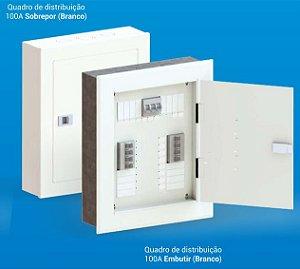 Quadro De Distribuição (Embutir) 44 Disj. C/Barramento 100A   Opção