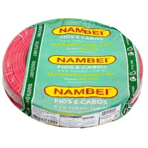 ROLO CABO FLEX 1,5MM VERMELHO NAMBEI