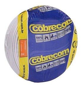 ROLO CABO FLEX 2,5MM BRANCO COBRECOM