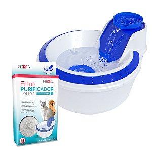 Kit Fonte Bebedouro Água Corrente Para Cães E Gatos 110V Várias Cores + Filtro Purificador - PETLON