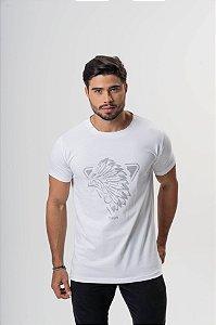 Camiseta Branca Cocar Prata