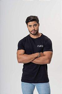Camiseta Preta Maori Estampa Costas