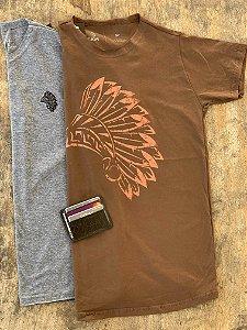 Kit Maori Heeni - 2 Camisetas + Carteira Compacta