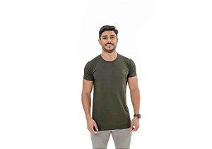Camiseta Casual Masculina Verde Maori