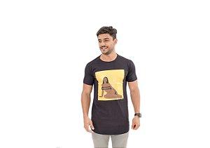 Camiseta Slim Masculina Censurado Maori Preta