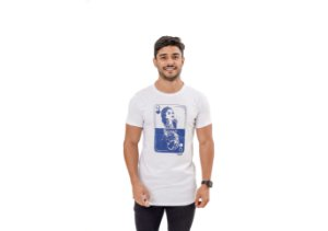 Camiseta Slim Masculina Dama de Copas Maori Branca