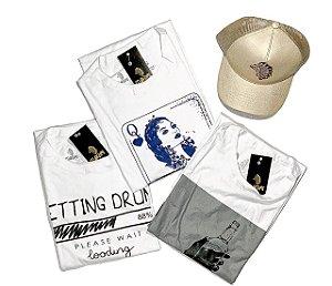 Kit 3 Camisetas Slim + Boné