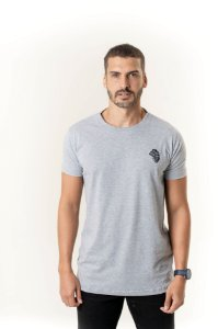 Camiseta Casual Masculina Mescla Cinza Maori