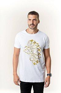 Camiseta Branca Maori Cocar Semente