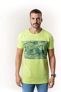 Camiseta Verde Maori Folhagens