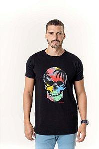 Camiseta Preta Maori Caveira
