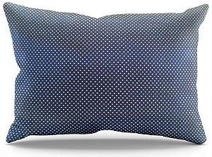 Fronha de Cetim - Poá Azul Marinho