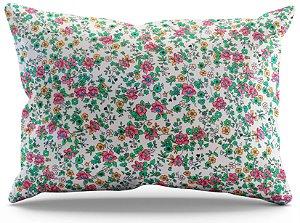 Fronha de Cetim - Floral Rosa
