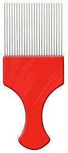 Pente Garfo com Dentesde Aço-Vermelho - Santa Clara