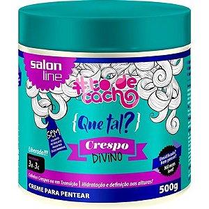 Salon Line #To de Cacho Que Tal? Crespo Divino - Creme Para Pentear - 500g - NOVA FÓRMULA