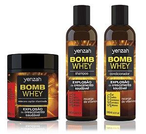 COMBO Yenzah Bomb Cream Whey - NOVA FÓRMULA