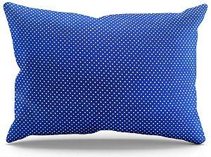 Fronha de Cetim - Poá Azul Royal