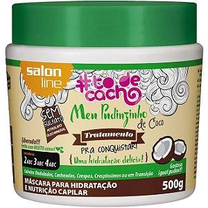 Salon Line #To de Cacho Meu Pudinzinho de Coco Máscara de Hidratação - Tratamento pra Conquistar - 500g