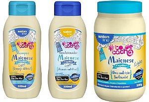COMBO Salon Line #To de Cacho Maionese Cuidados Diários - Shampoo 300ml + Condicionador 300ml + Máscara 500g