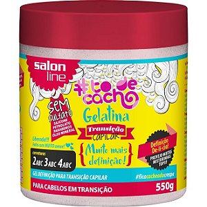 Gelatina Transição Capilar #TodeCacho - Gel Definição para Transição Capilar 550g - Salon Line