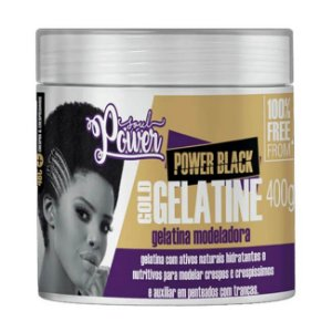 Gelatina Modeladora Power Black Gold Gelatine 400g - Soul Power